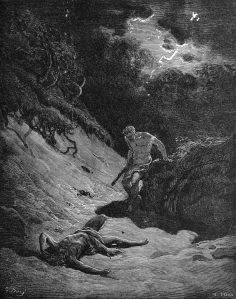 Gustave Dore - Cain Slays Abel [c. 1865]